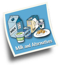 Milk and Milk Alternatives is one of four food groups
